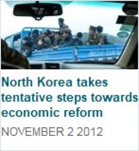 North Korea Takes Tentative Steps Towards Economic Reform summary