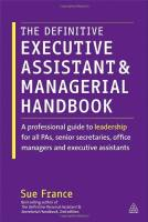 The Definitive Executive Assistant and Managerial Handbook book summary