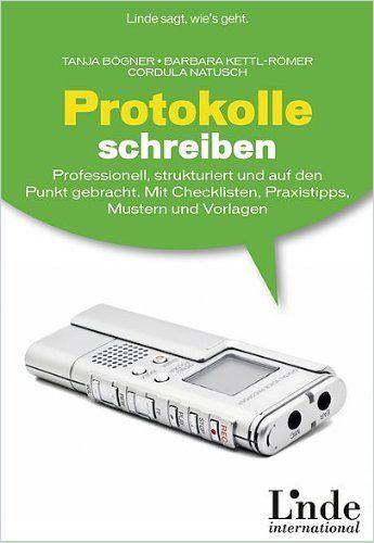 Image of: Protokolle schreiben