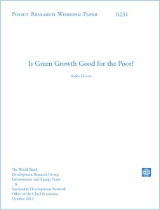 Is Green Growth Good for the Poor? summary
