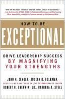 How to Be Exceptional book summary