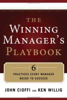 The Winning Manager's Playbook book summary