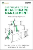 Sustainability for Healthcare Management book summary