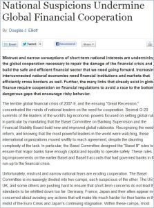 National Suspicions Undermine Global Financial Cooperation summary