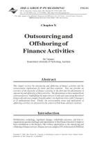 Outsourcing and Offshoring Finance Activities