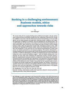 Banking in a Challenging Environment summary