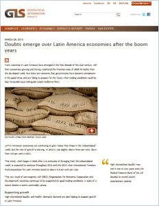 Doubts Emerge over Latin America Economies After the Boom Years  summary