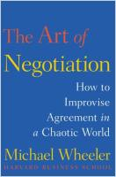 The Art of Negotiation book summary