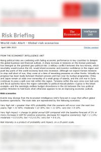 World Risk Alert April 18th 2013 summary