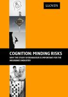 Cognition: Minding Risks summary