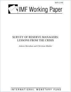 Survey of Reserve Managers summary