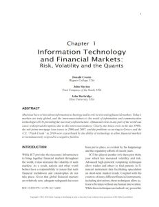 Information Technology and Financial Markets summary