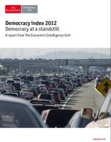 Democracy Index 2012 summary