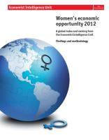 Women's Economic Opportunity 2012 summary