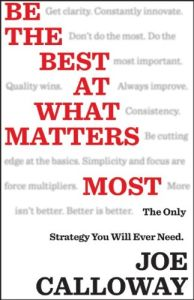 Be the Best at What Matters Most book summary