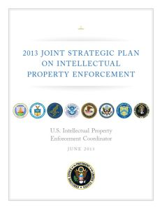 2013 Joint Strategic Plan on Intellectual Property Enforcement summary