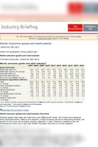 Consumer Goods and Retail summary