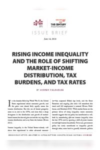 Rising Income Inequality and the Role of Shifting Market-Income Distribution, Tax Burdens and Tax Rates  summary