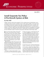 Israeli Corporate Tax Policy summary