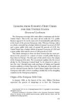 Lessons from Europe's Debt Crisis for the United States  summary
