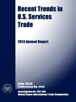 Recent Trends in US Services Trade summary