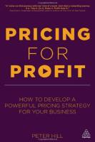 Pricing for Profit book summary