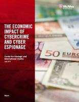 The Economic Impact of Cybercrime and Cyber Espionage summary