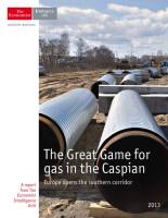 The Great Game for Gas in the Caspian summary