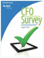 CFO Quarterly Global Outlook Survey summary