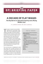 A Decade of Flat Wages
