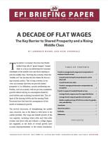 A Decade of Flat Wages summary