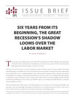 Six Years from Its Beginning, the Great Recession's Shadow Looms Over the Labor Market summary