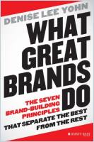 What Great Brands Do book summary