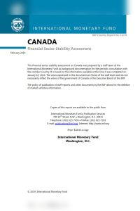 Canada – Financial Sector Stability Assessment summary