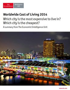 Worldwide Cost of Living 2014 summary