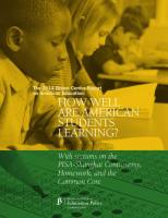 How Well Are American Students Learning? summary