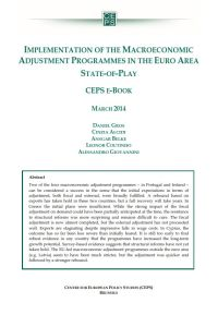 Implementation of the Macroeconomic Adjustment Programmes in the Euro Area summary