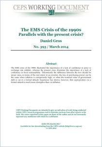 The EMS Crisis of the 1990s summary