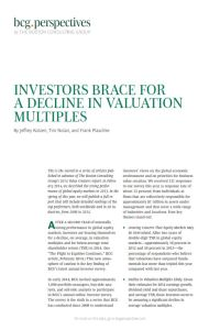 Investors Brace for a Decline in Valuation Multiples summary