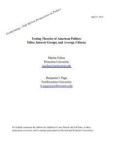 Testing Theories of American Politics summary
