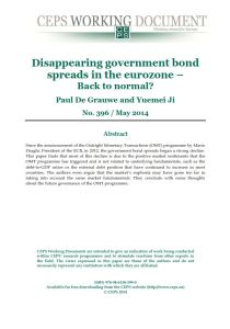 Disappearing Government Bond Spreads in the Eurozone summary