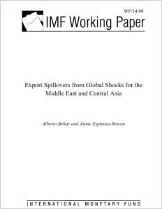 Export Spillovers from Global Shocks for the Middle East and Central Asia summary