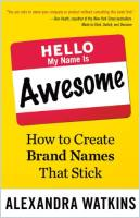 Hello My Name Is Awesome book summary