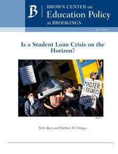 Is a Student Loan Crisis on the Horizon? summary