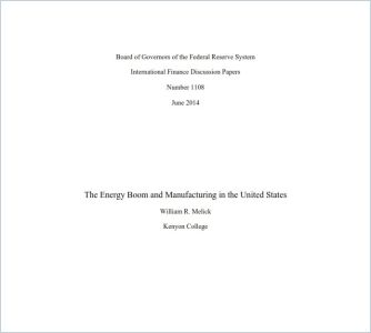 The Energy Boom and Manufacturing in the US summary