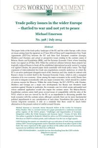 Trade Policy Issues in the Wider Europe – That Led to War and Not Yet to Peace summary