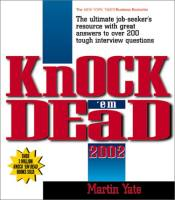 Knock 'Em Dead 2002 book summary