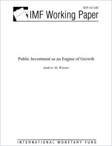 Public Investment as an Engine of Growth  summary