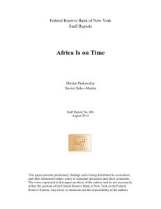 Africa Is on Time summary