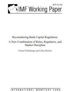 Reconsidering Bank Capital Regulation summary